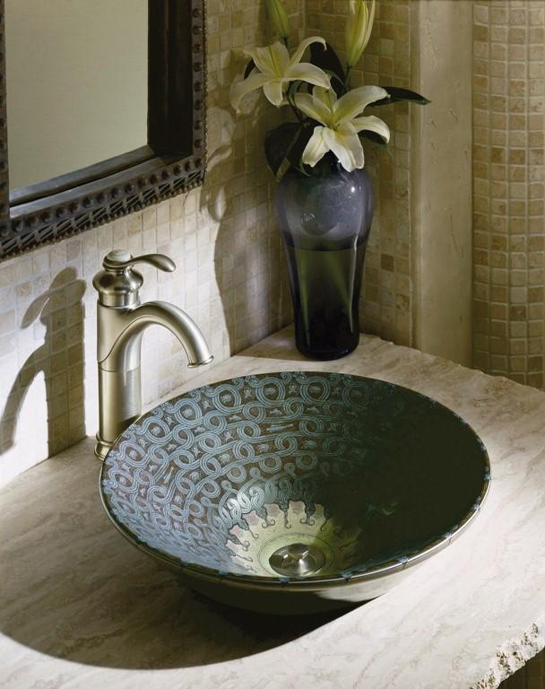 Kohler-Serpentine-bronze-bathroom-basin