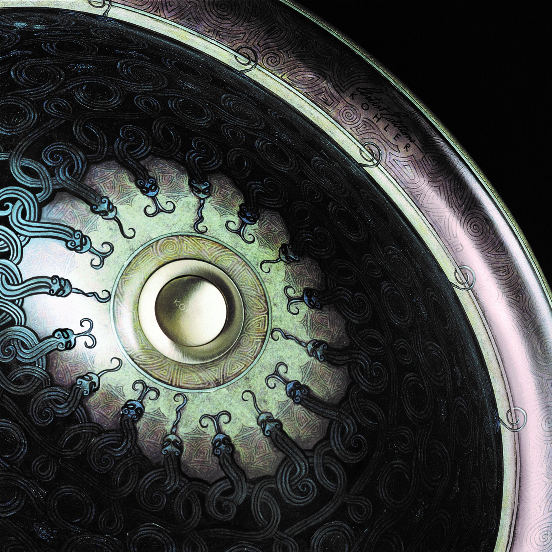 Serpentine-Bronze-basin